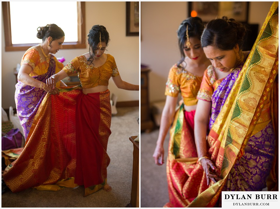 black canyon inn hindu wedding sari folding