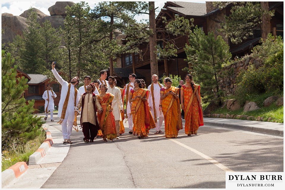 black canyon inn hindu wedding bridal party