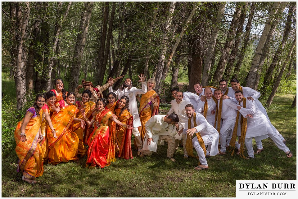 black canyon inn hindu wedding fun bridal party