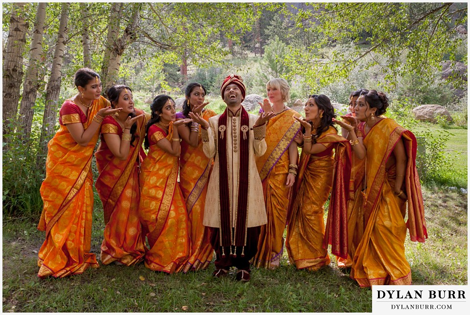 black canyon inn hindu wedding bridesmaids and groom