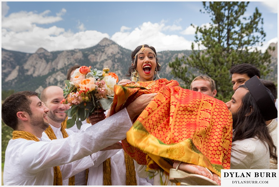 black canyon inn hindu wedding throwing bride in air