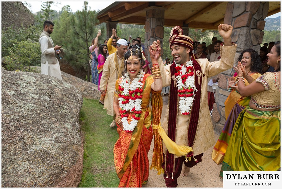 black canyon inn hindu wedding exiting ceremony happy