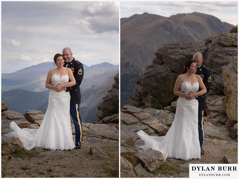 rocky mountain national park wedding intimate mountain wedding portraits