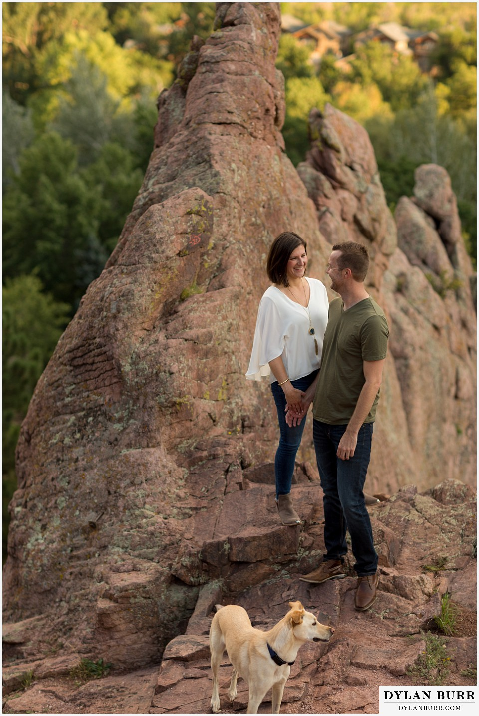 boulder wedding engagement session neat rock formations