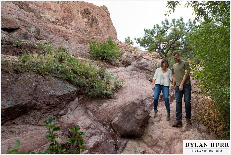 boulder wedding engagement session in neat rocks