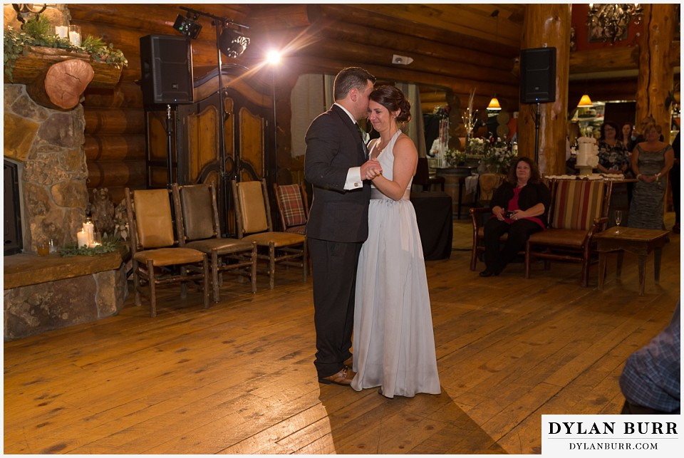 breckenridge nordic center wedding colorado mountain wedding photographer groom and mother honor dance with sister