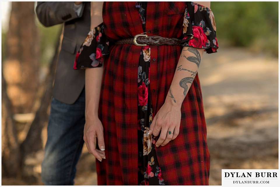 castle rock colorado engagement session tattoos and apetite rings