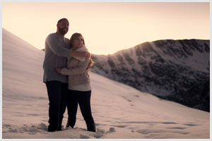colorado mountain adventure engagement session