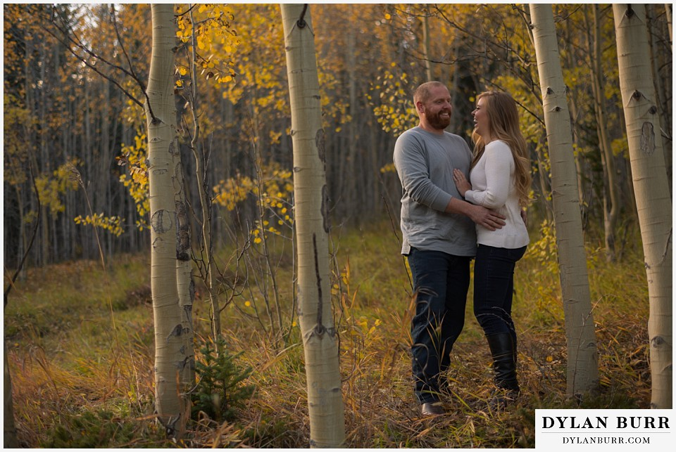 colorado mountain engagement session fall colors