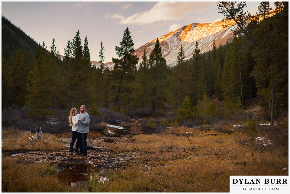 colorado mountain engagement session dancing in the mountains