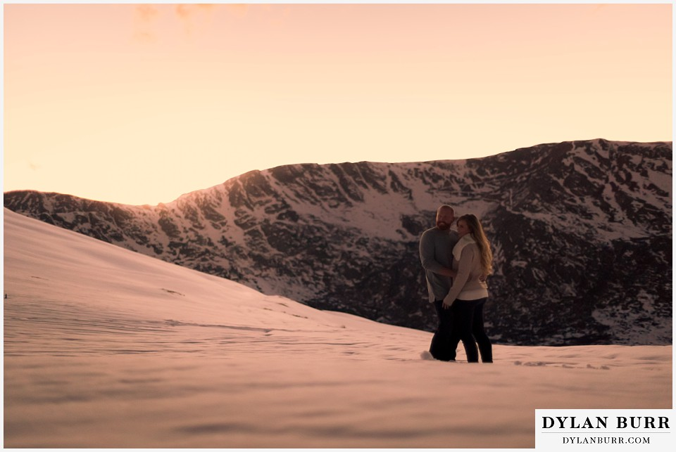 colorado mountain engagement session giant snow capped mountains