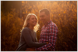 colorado mountain engagement session in fall