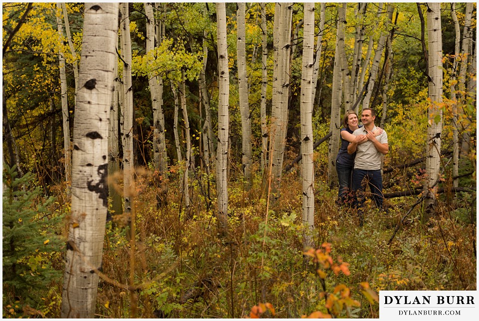 colorado mountain engagement session fall in colorado