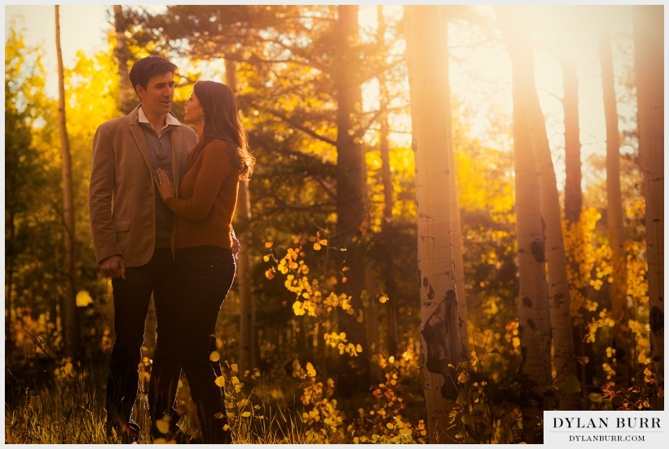 colorado sunset fall engagement photos