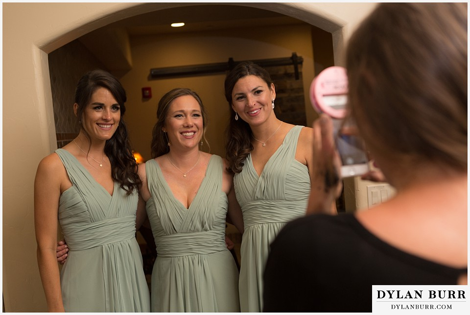 della terra wedding estes park colorado mountain wedding bridesmaids getting ready
