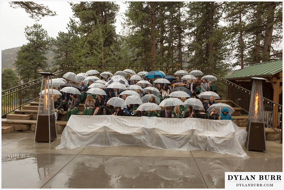 della terra wedding estes park colorado mountain wedding rainy ceremony site