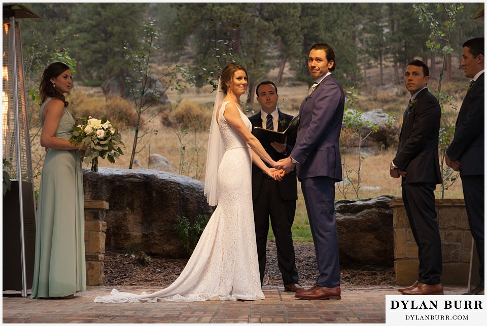 della terra wedding estes park colorado mountain wedding ceremony