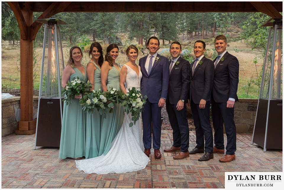 della terra wedding estes park colorado mountain wedding bridal party