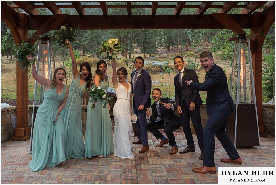 della terra wedding estes park colorado mountain wedding awesome bridal party photos