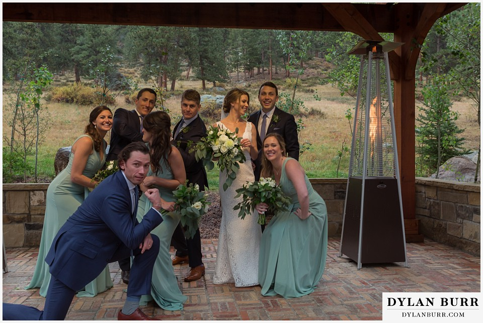 della terra wedding estes park colorado mountain wedding fun bridal party photos