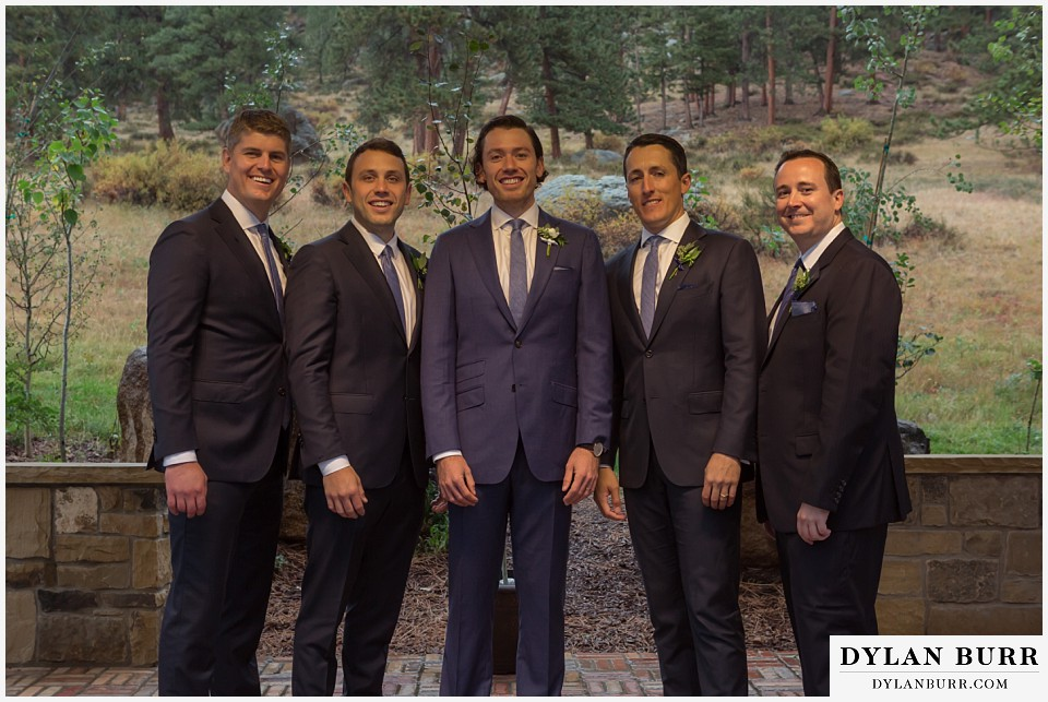 della terra wedding estes park colorado mountain wedding groomsmen