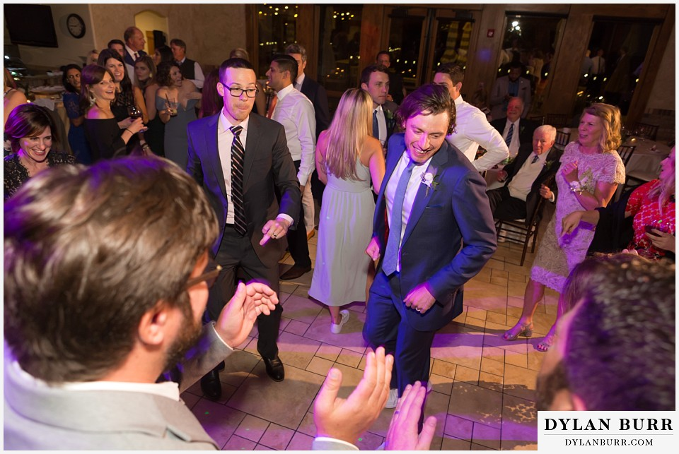 della terra wedding estes park colorado mountain wedding groom dancing