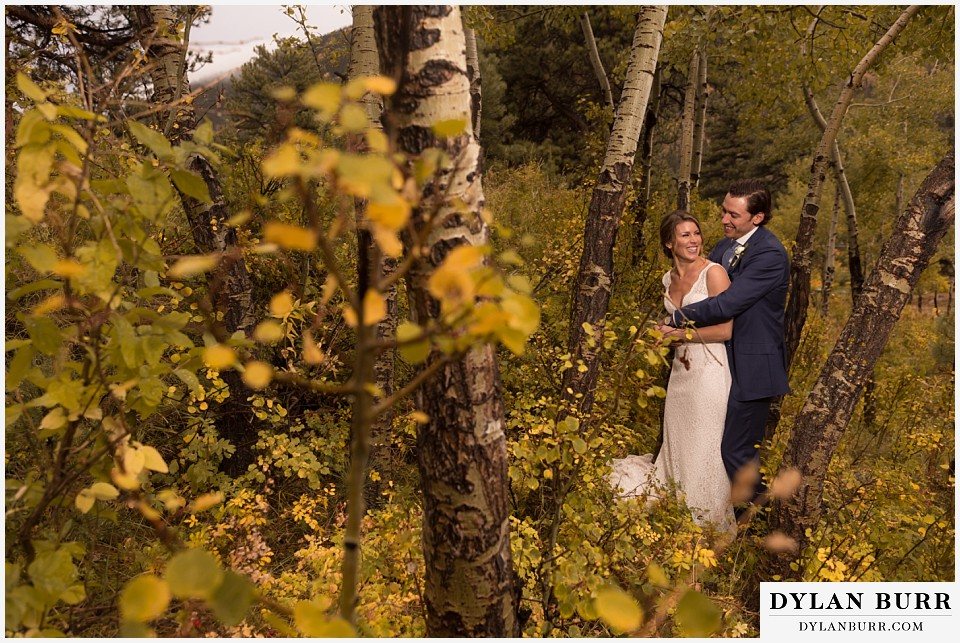 della terra wedding estes park colorado mountain wedding fall aspen leaves colors