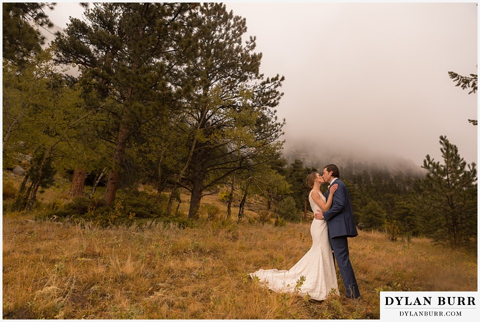 della terra wedding estes park colorado mountain wedding views with fall fog
