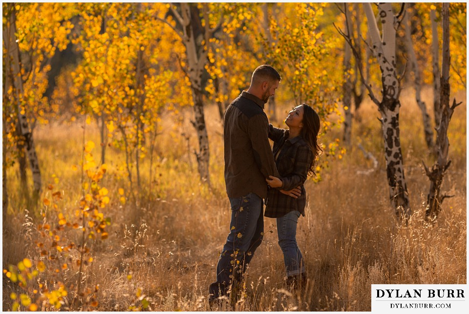engagement photos golden colorado photographer couple dancing in the mountains together