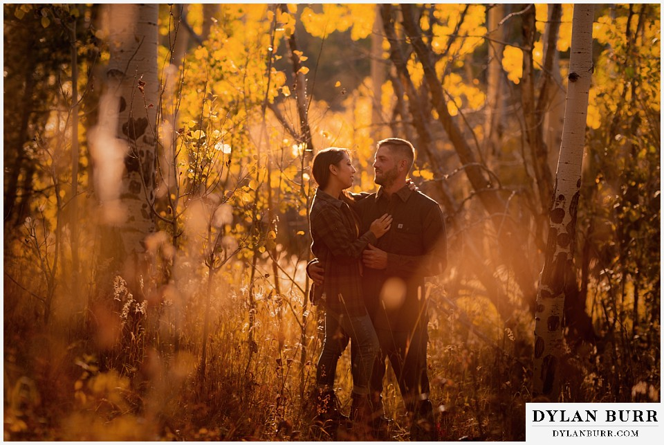 engagement photos golden colorado photographer colorado fall afternoon in aspen trees