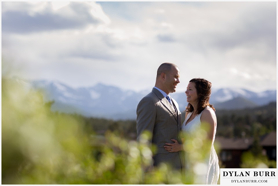 rocky mountain estes park engagement session near Stanley Hotel