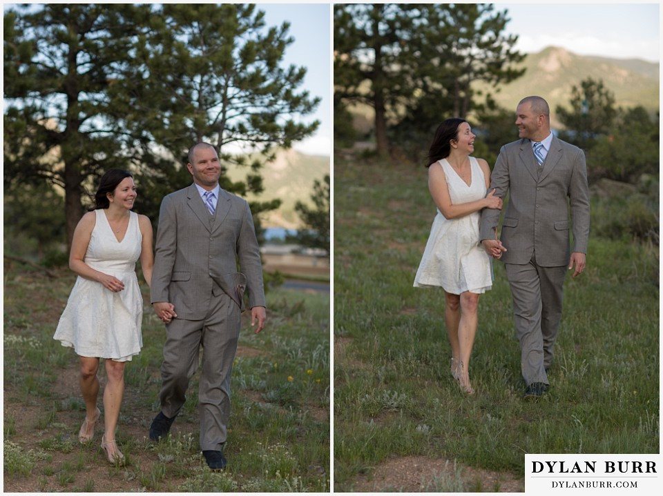 rocky mountain estes park engagement session walk together