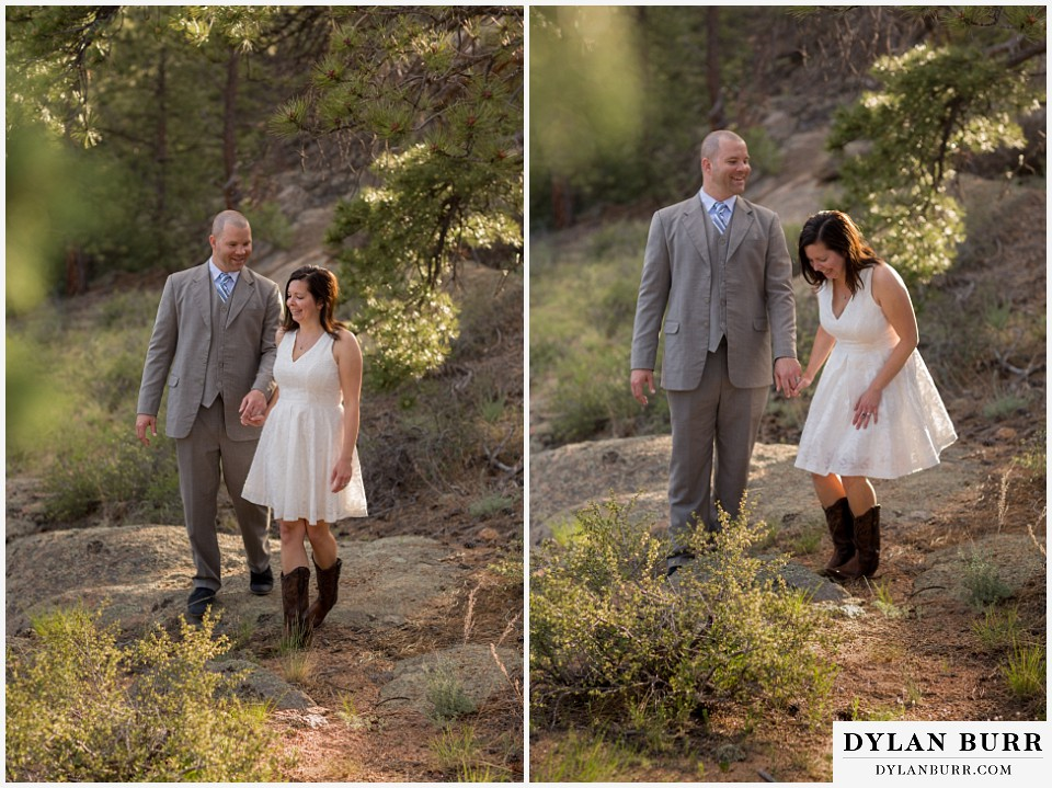 rocky mountain estes park engagement session mountain hiking