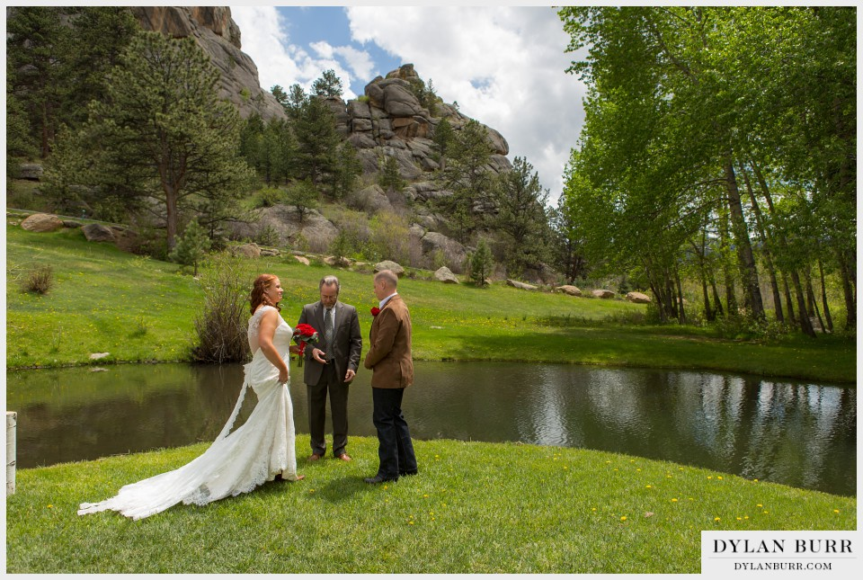 estes park wedding black canyon inn lake elopement