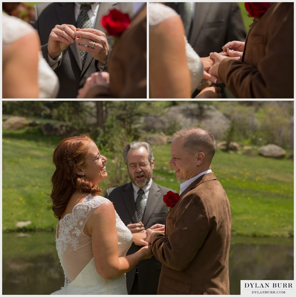 estes park wedding elopement black canyon inn rings
