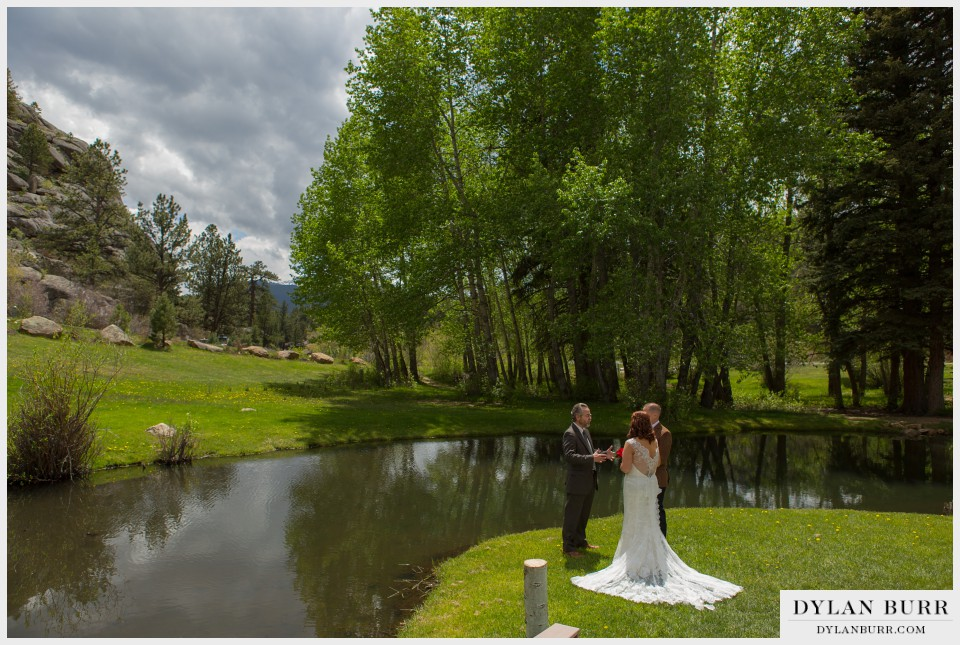estes park wedding elopement black canyon inn
