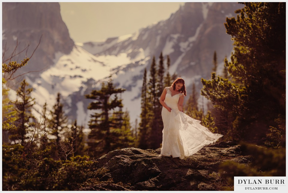 estes park wedding photos bride