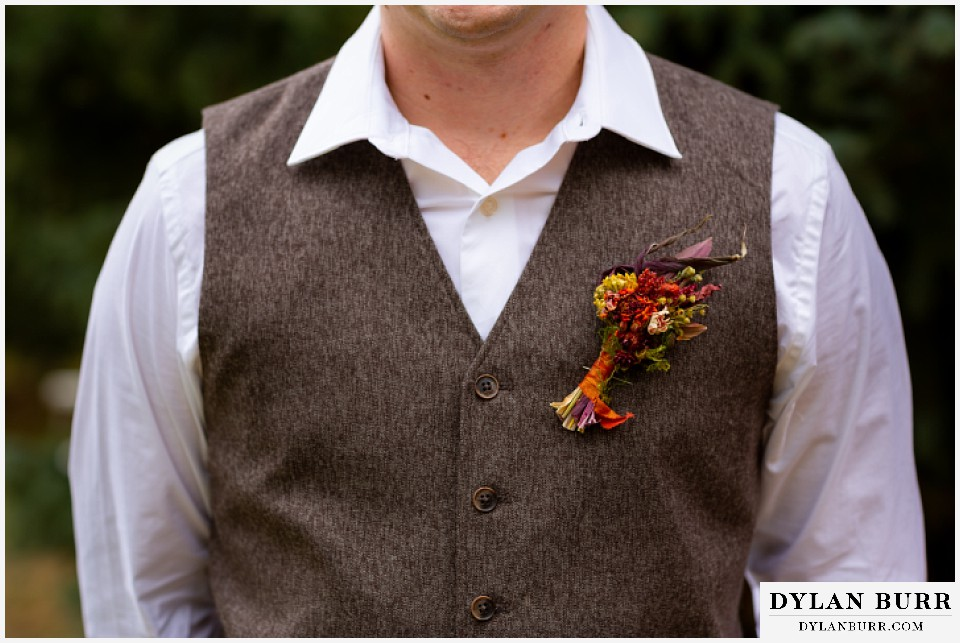 grand lake wedding elopement grooms fall wedding details