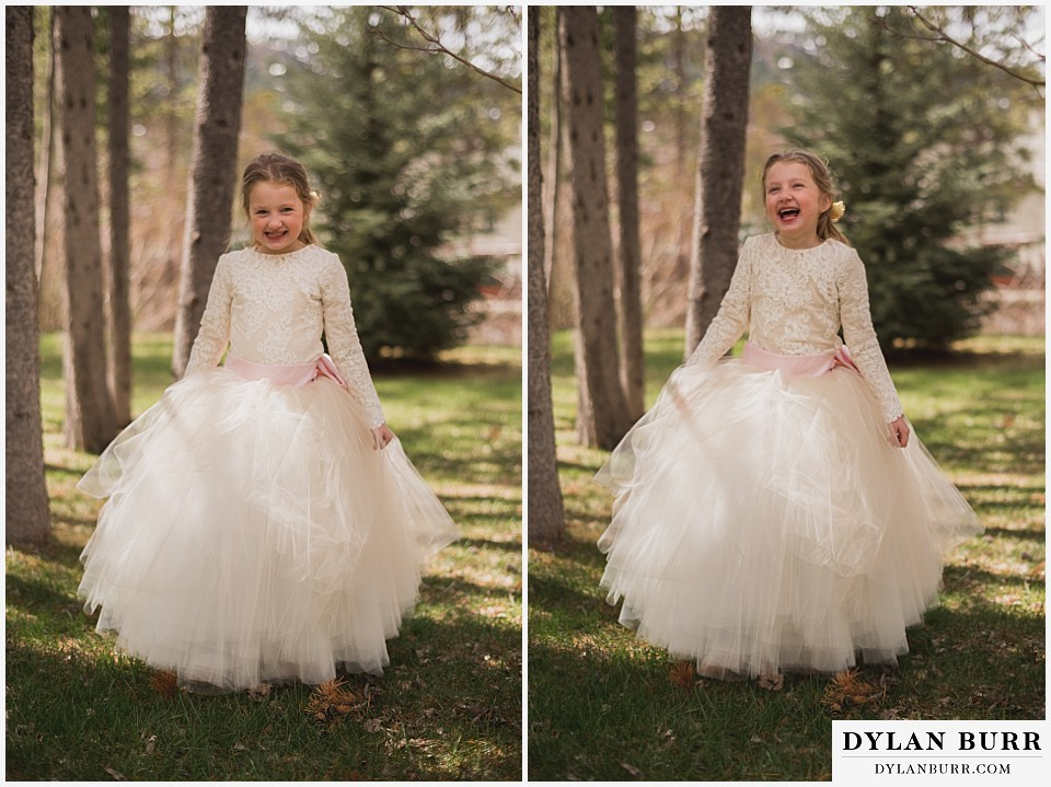 grand teton destination wedding daughter is ready for the wedding