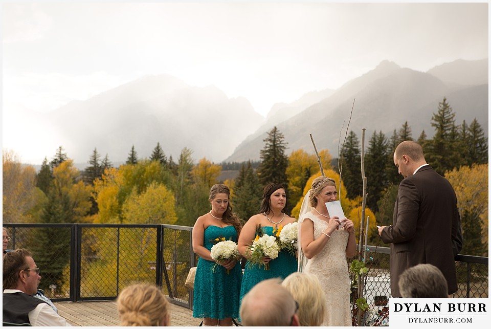 grand teton fall wedding cermony dornans
