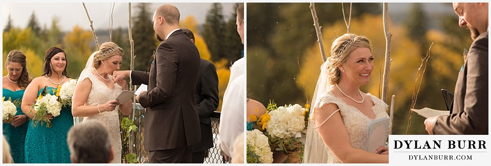 grand teton national park fall wedding cermony dornans