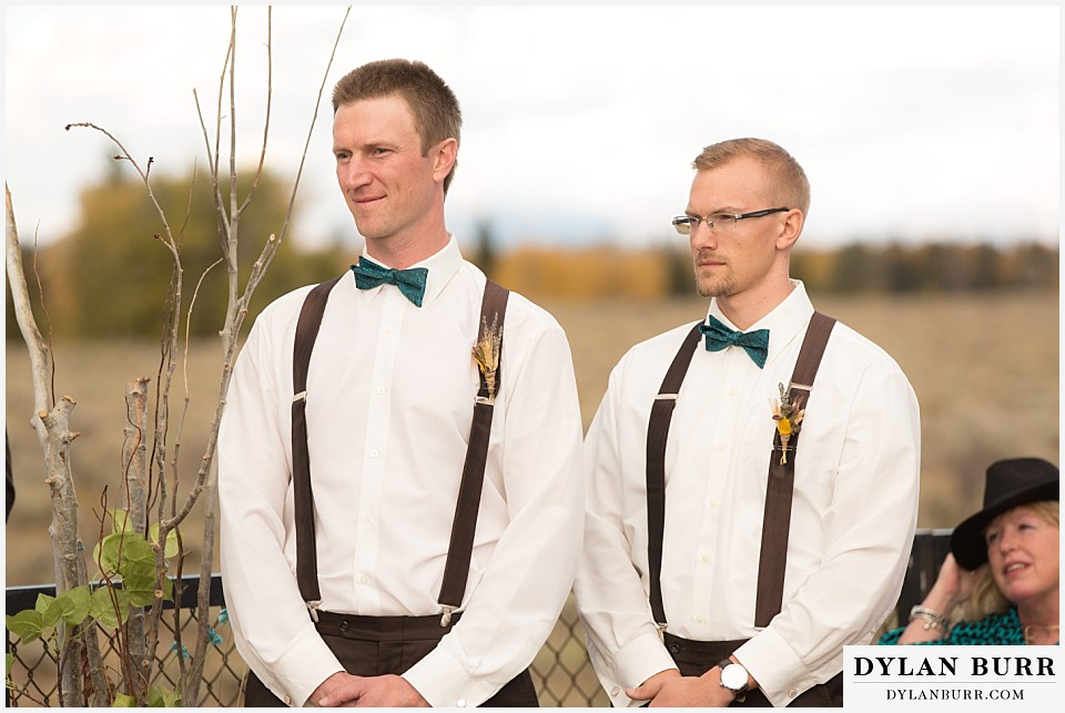 grand teton wedding ceremony dornans grooomsmen