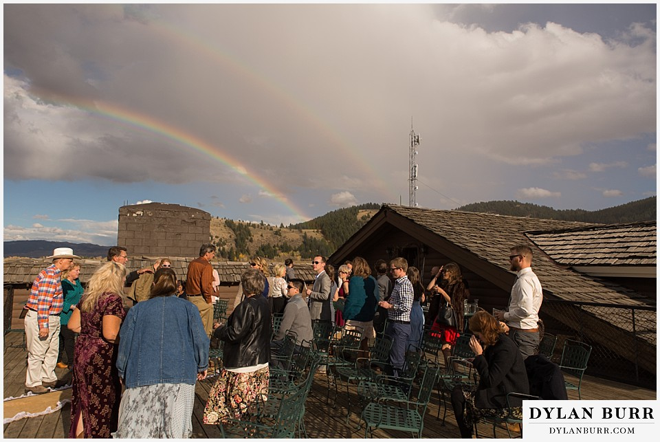 grand teton wedding ceremony dornans rainbow