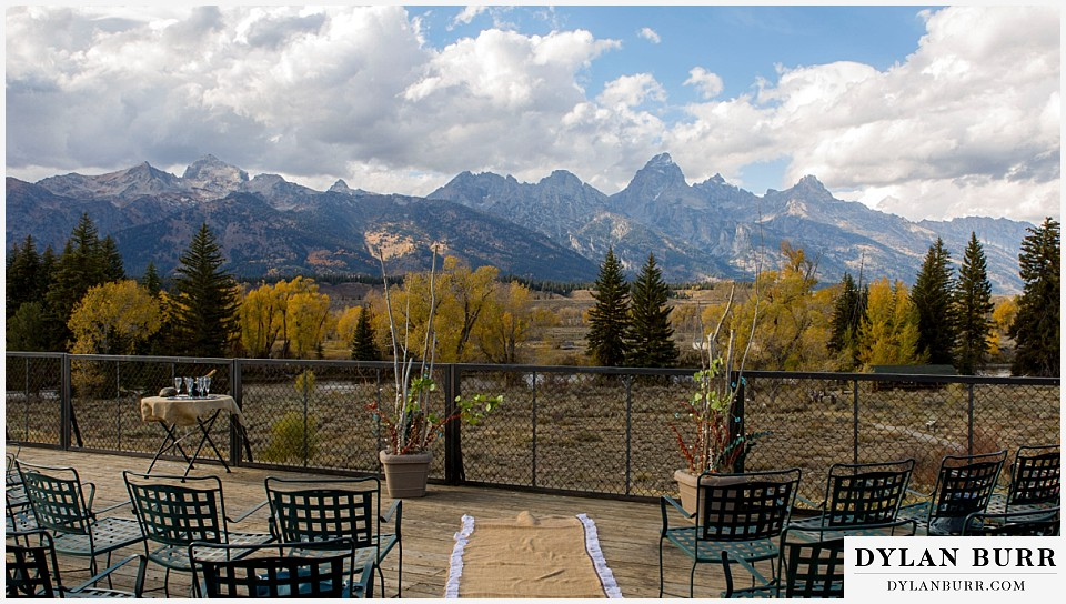 grand teton wedding ceremony dornans wyoming view