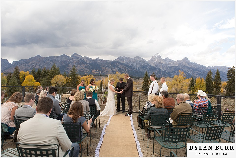 grand teton wedding dornans ceremony site view