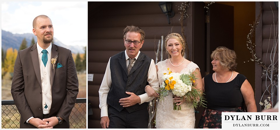 grand teton wedding dornans moose wyoming bride aisle