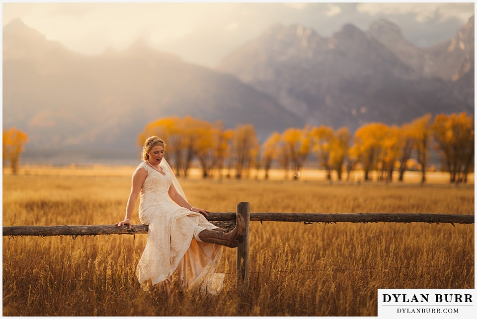 grand teton wedding photos bride