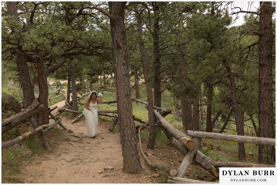 colorado mountain elopement lost gulch overlook wedding boulder walking up