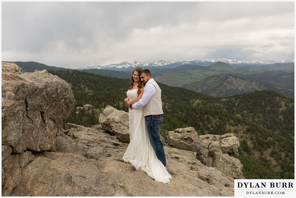 colorado mountain elopement lost gulch overlook wedding boulder co mountain views