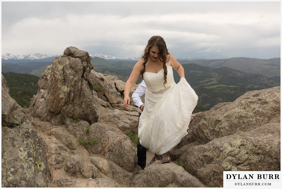 colorado mountain elopement lost gulch overlook wedding boulder co hiking